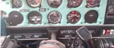 Picture of an instrument panel of the warrior PA-141